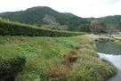 朝倉氏館跡・北門側の土塁と堀…