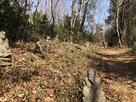 ジグザグの登城路には五百羅漢が。尾根に出