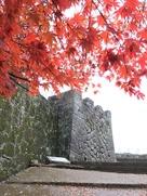 大手門跡の石垣…