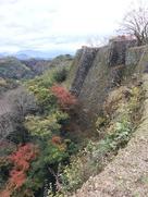 三ノ丸跡の石垣…