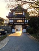 櫓門の夕暮れ