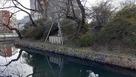 城址公園に遺された土塁と水堀…