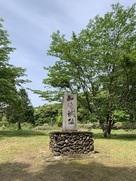 本丸にある城址石碑…