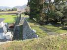 天守台から小天守、西櫓跡の石垣…