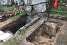 二の丸枡形の発掘状況…