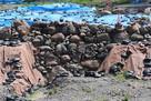駿府城 発掘現場 天正期の石垣…