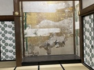 大広間の壁画(鶴の絵)…