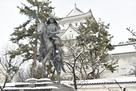 氏鉄公と天守 雪の情景…