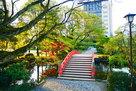本丸から松川を望む…