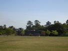 新丸広場から見た菱櫓と河北門…