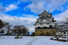 彦根城 天守 雪景色