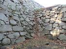石垣と石垣の接続部分…
