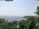 本丸から浦賀水道の眺め…