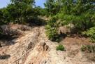 登城道の岩盤