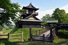 二層櫓と西二ノ曲輪 木橋…