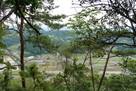 加治田城より堂洞城方面の眺望…