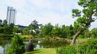 庭園と模擬天守