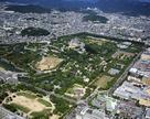 改修前の姫路城空撮…