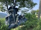 敗軍の将の像