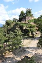 大矢倉跡から見た城の風景…