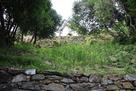 水の手郭石垣と小天守…