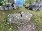 徳川秀忠の憩い石…