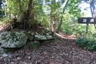 西山城 北曲輪の溜枡の石積…