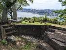 城跡石碑と眺望…