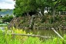 水堀と石垣(西面)…
