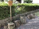 櫓に使用された石垣…