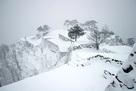竹田城の雪景色…