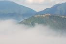 立雲峡から見た雲海…