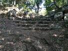 木漏れ日を浴びる石段…
