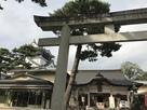 龍城神社と天守…