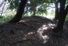 安祥城 本丸跡の櫓台跡土塁…