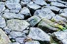 北大手門横の石垣…