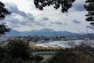 城跡から敦賀港…