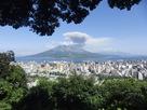 城山から見た桜島…