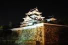 ライトアップされた岸和田城と石垣(201