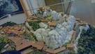 苗木遠山資料館の苗木城模型…