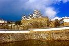 姫路城 三国堀から…