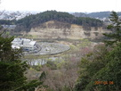 懸造り跡から見た広瀬川…