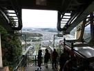 山頂のロープウェイ乗降場から岩国市内の景…