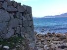 東側海岸際の櫓跡…