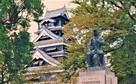 1985年の天守と谷干城像