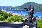 初夏の小鳴門海峡と模擬鯱…