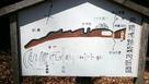 麻績城の断面図、縄張り図