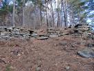 登城中最初の石積…