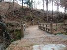 登城口となる橋…