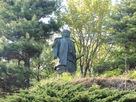 上杉謙信公の銅像…